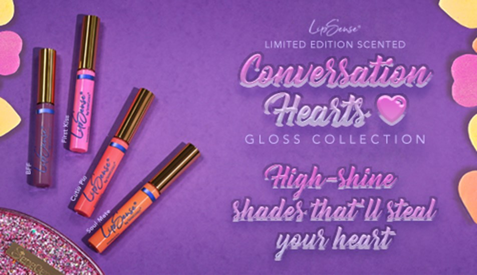 Scented Conversation Hearts Gloss Collection