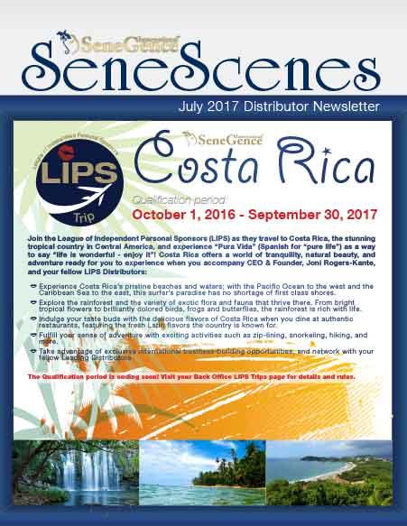 July 2017 Distributor Newsletter October 1, 2016 - September