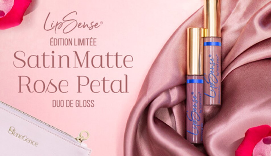 Satin Matte Rose Petal Gloss Duo – Limited Edition
