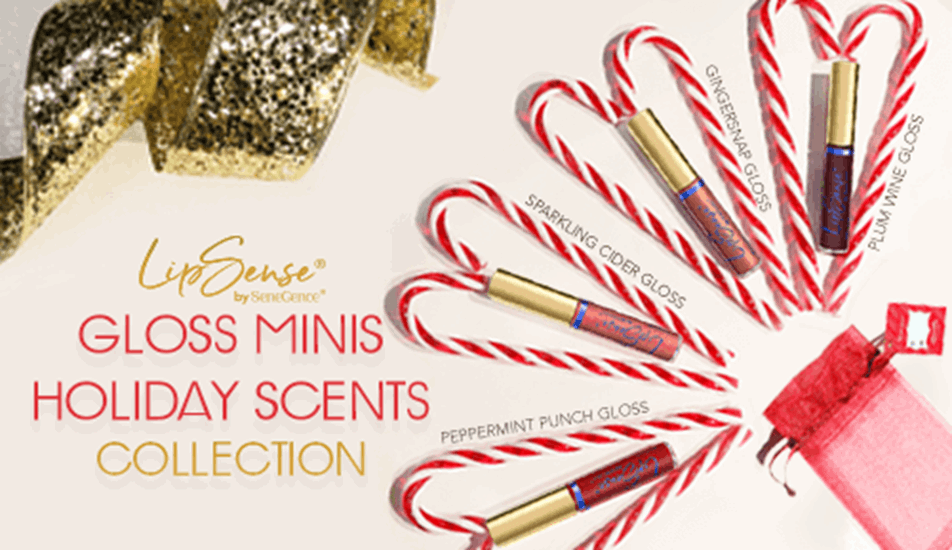 LipSense Gloss Minis Holiday Scents Collection